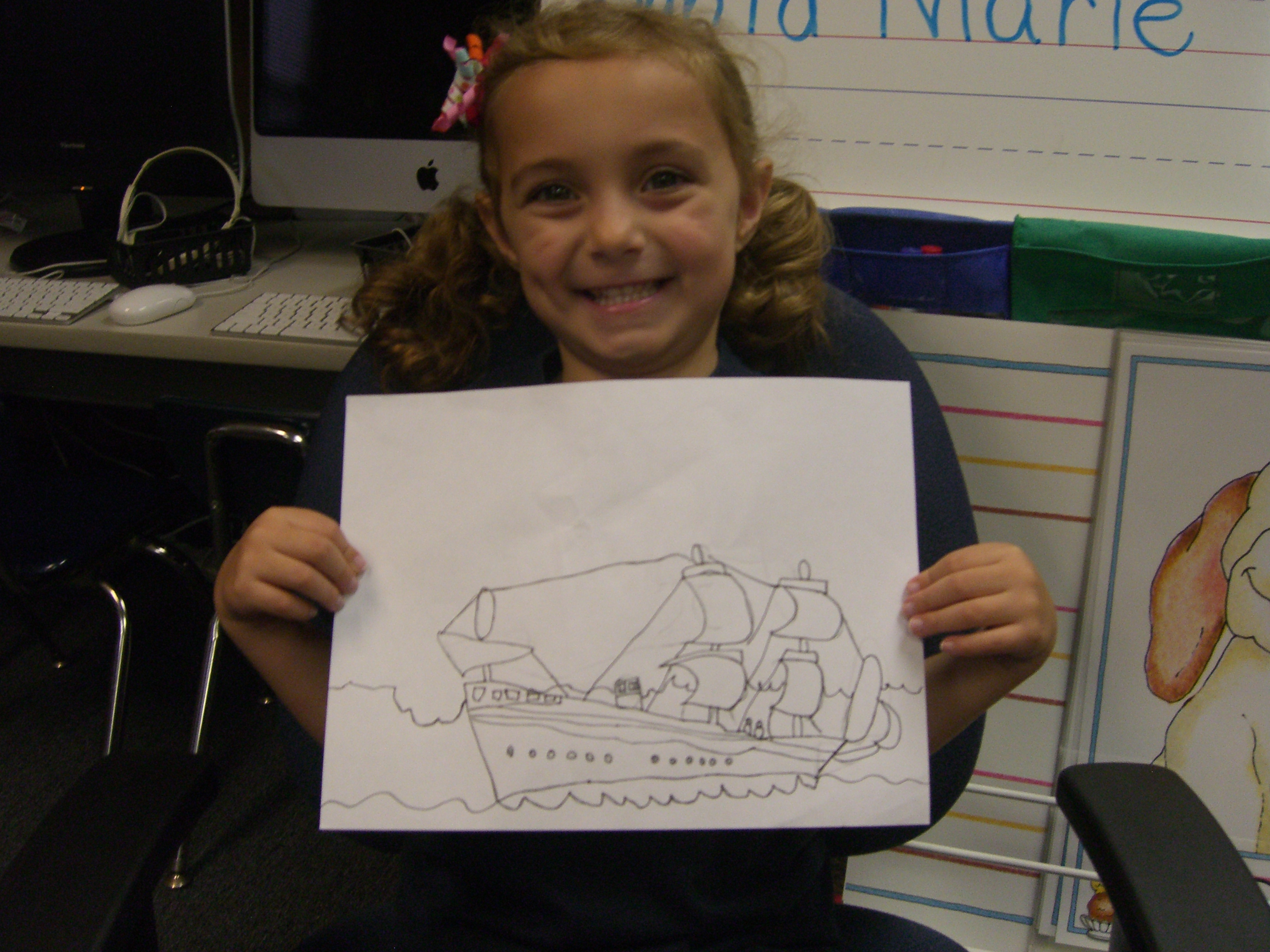 3264x2448 Columbus' Ship Drawing Lesson Mrs. Teasdale's Kindergarten Class