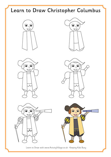 460x650 Learn To Draw Christopher Columbus Cc Cycle 3