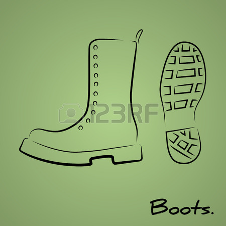 450x450 417 Combat Boots Cliparts, Stock Vector And Royalty Free Combat