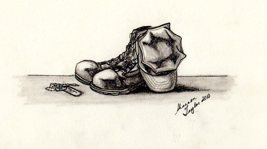 900x503 Combat Boots Drawing Combat Boots Still Life By Andeshii