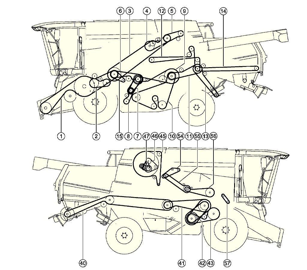 1024x900 Combine Harvester Claas Tucano 440drive Layout Belts Combine