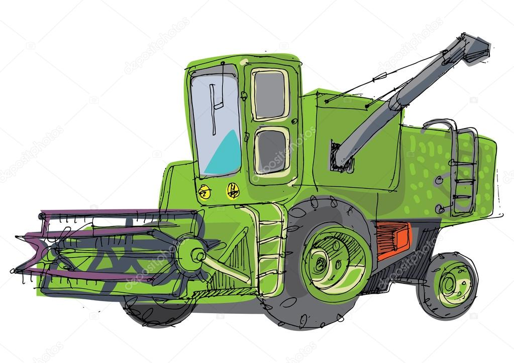 1023x723 Combine Harvester