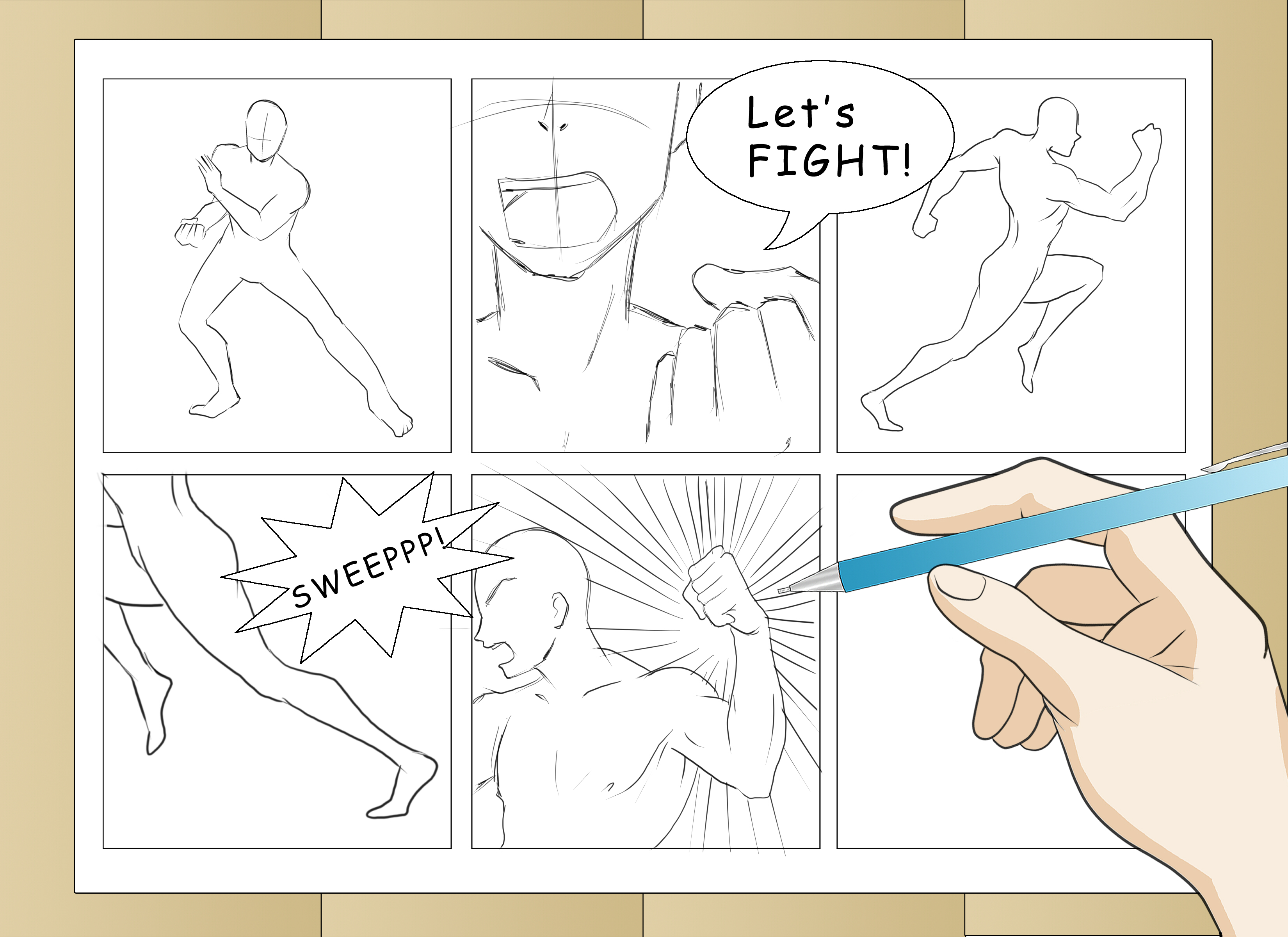3300x2400 3 Ways To Draw Comic Book Action