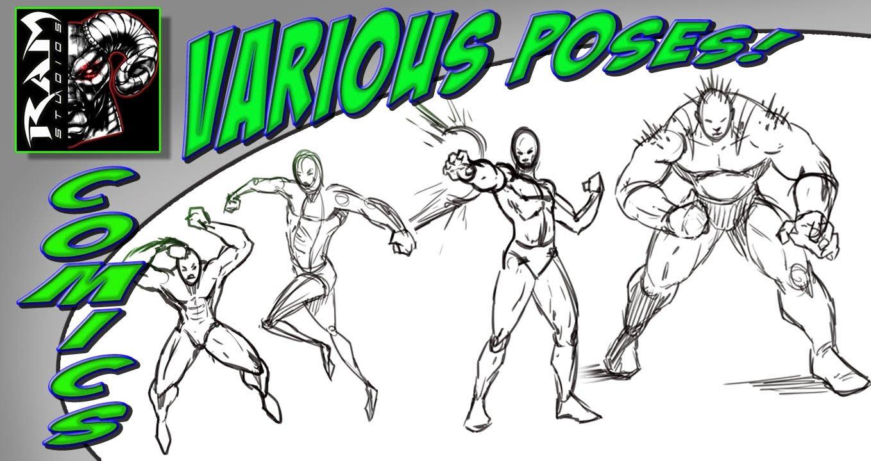 1358x720 Drawing Comic Book Poses