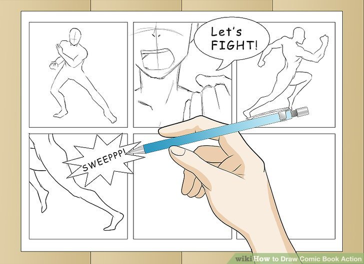 728x529 3 Ways To Draw Comic Book Action