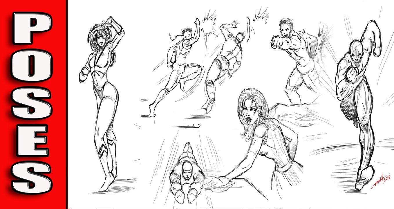 1358x720 Comic Book Drawings Drawing Various Comic Book Poses