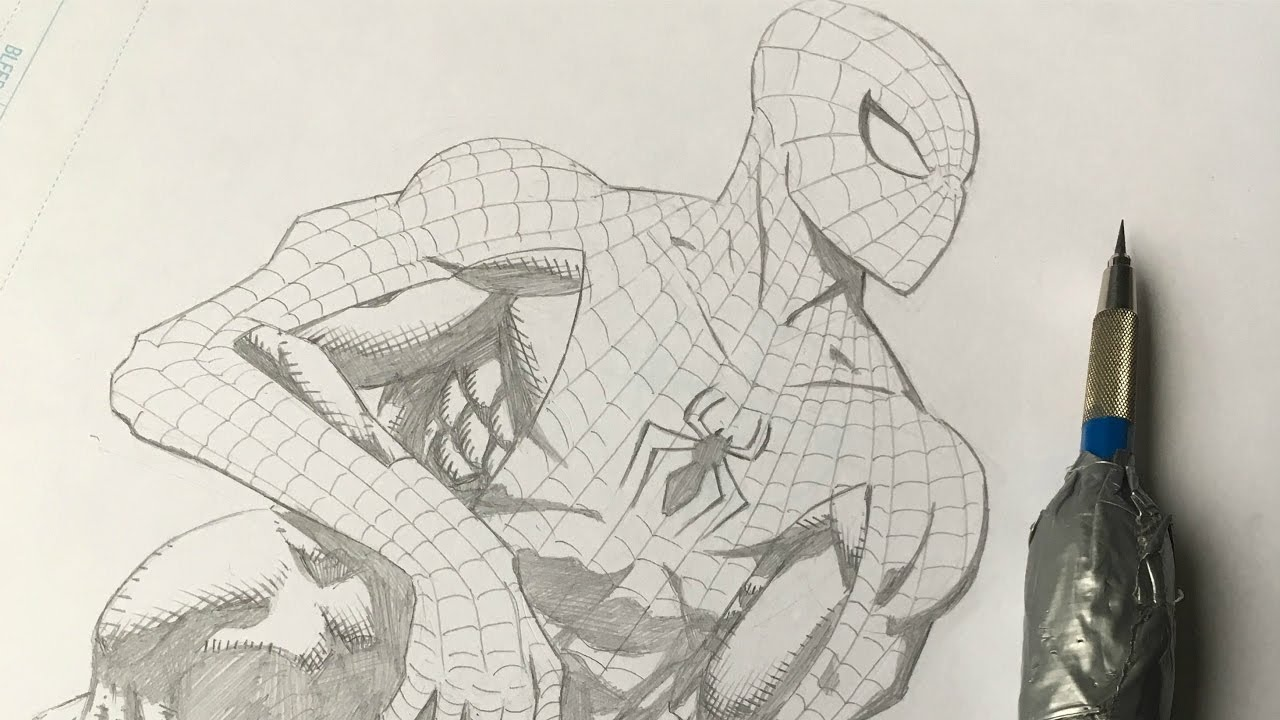 1280x720 How To Draw Spiderman (Comic Book Style)