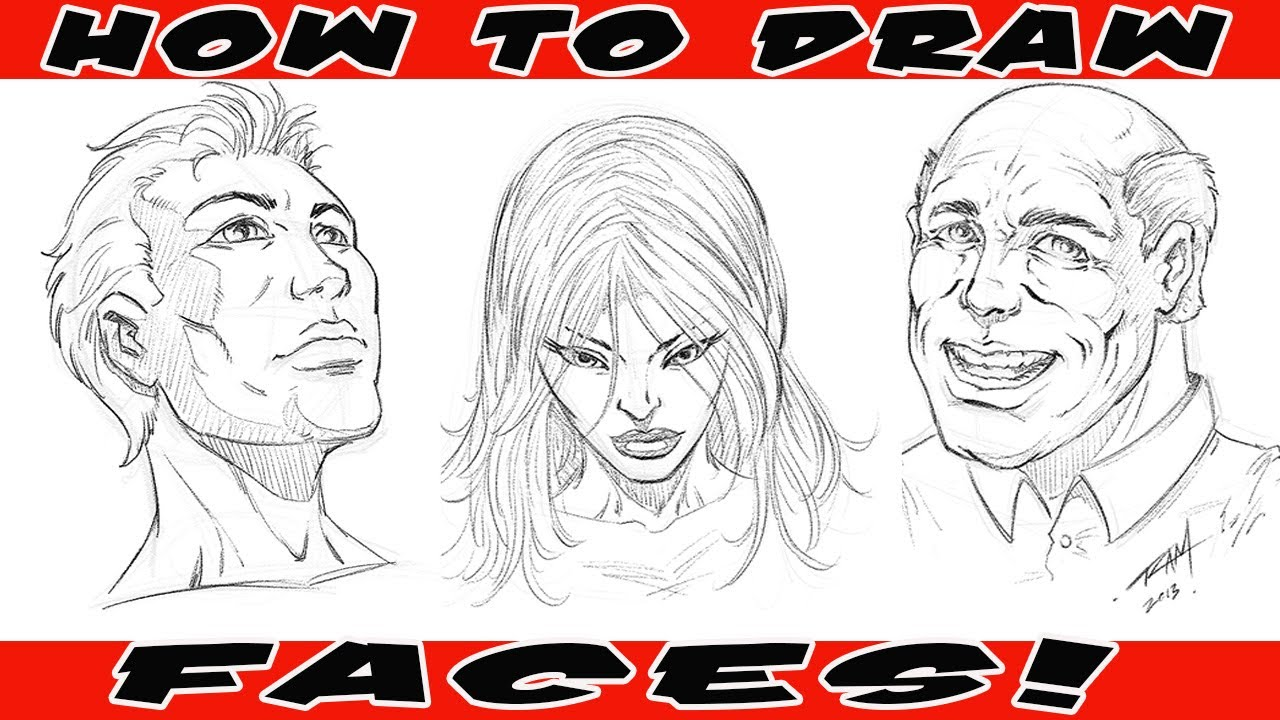 1280x720 How To Draw Comic Book Faces