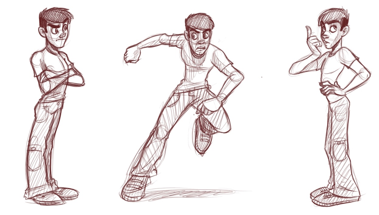 1246x708 How To Draw Slim Male Characters