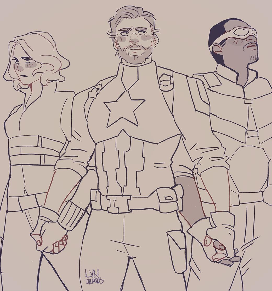 1040x1109 Avengers Infinity War Captain America And Black Widow,falcon