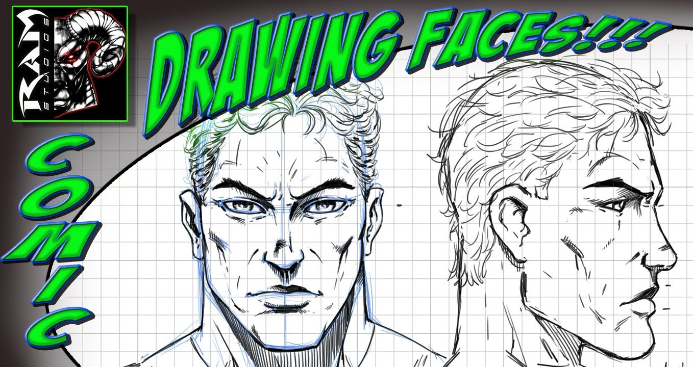 1358x720 Drawing A Super Hero Face