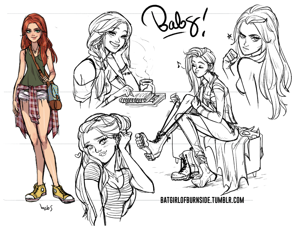 1163x894 Here's Some Early Character Sketches Babs Did To Get The Feel