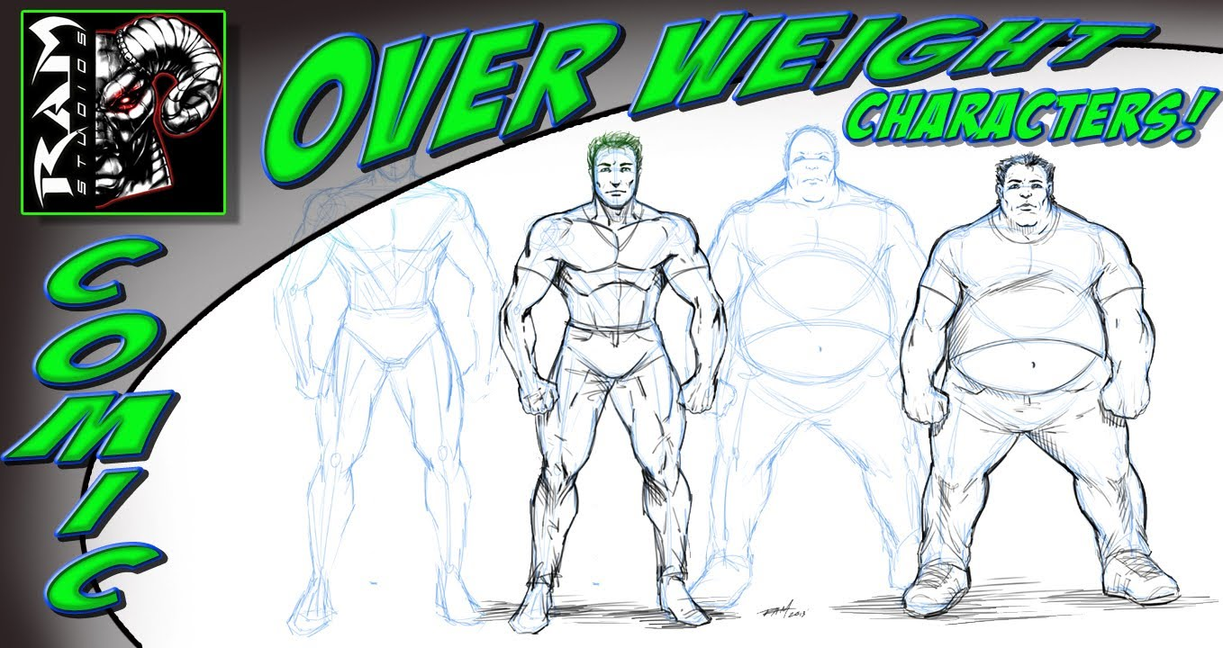 1358x720 How To Draw Overweight People Comic Book Style