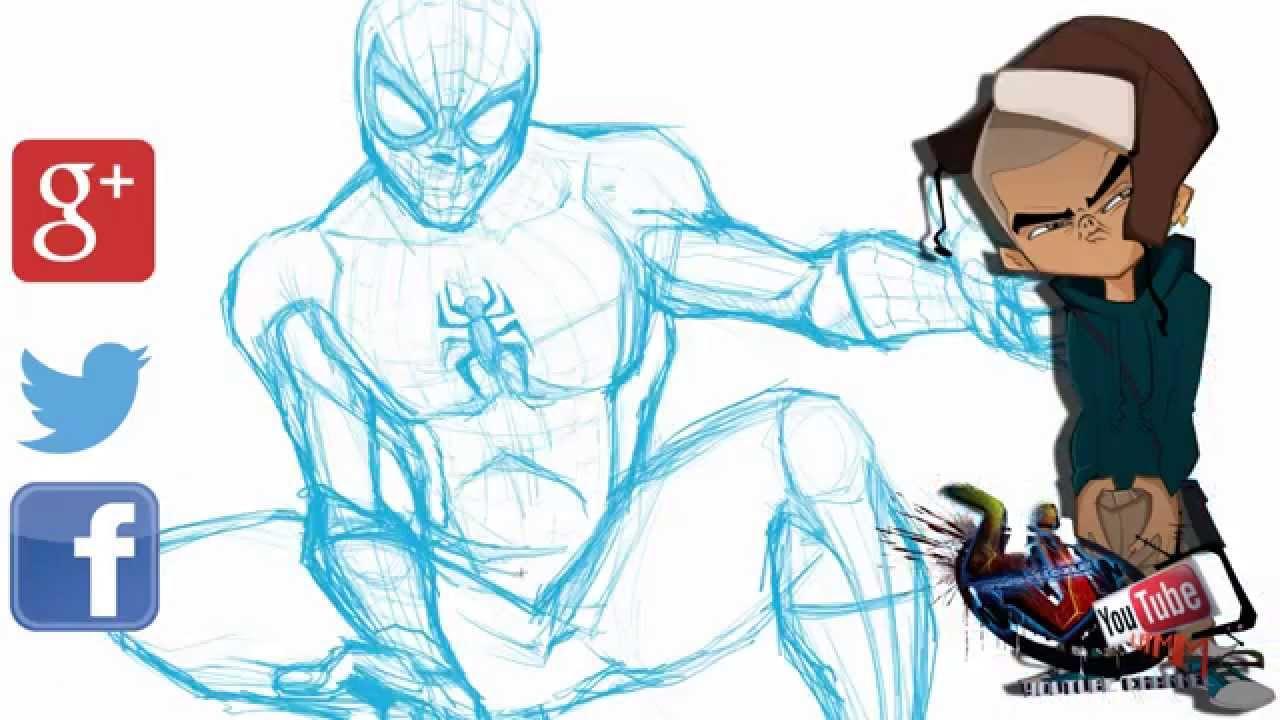 1280x720 Lj Speed Art Sessions How To Draw Spiderman Cartooncomicdrawing