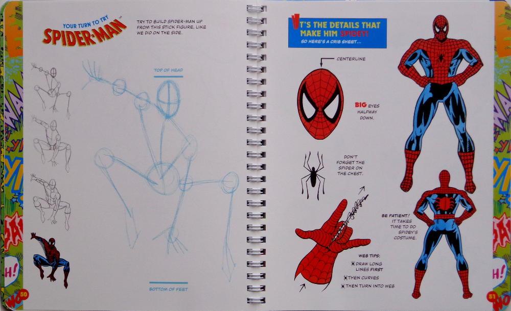 1000x610 Superhero Drawing Books Spiderfan Comics Klutz Draw The Marvel