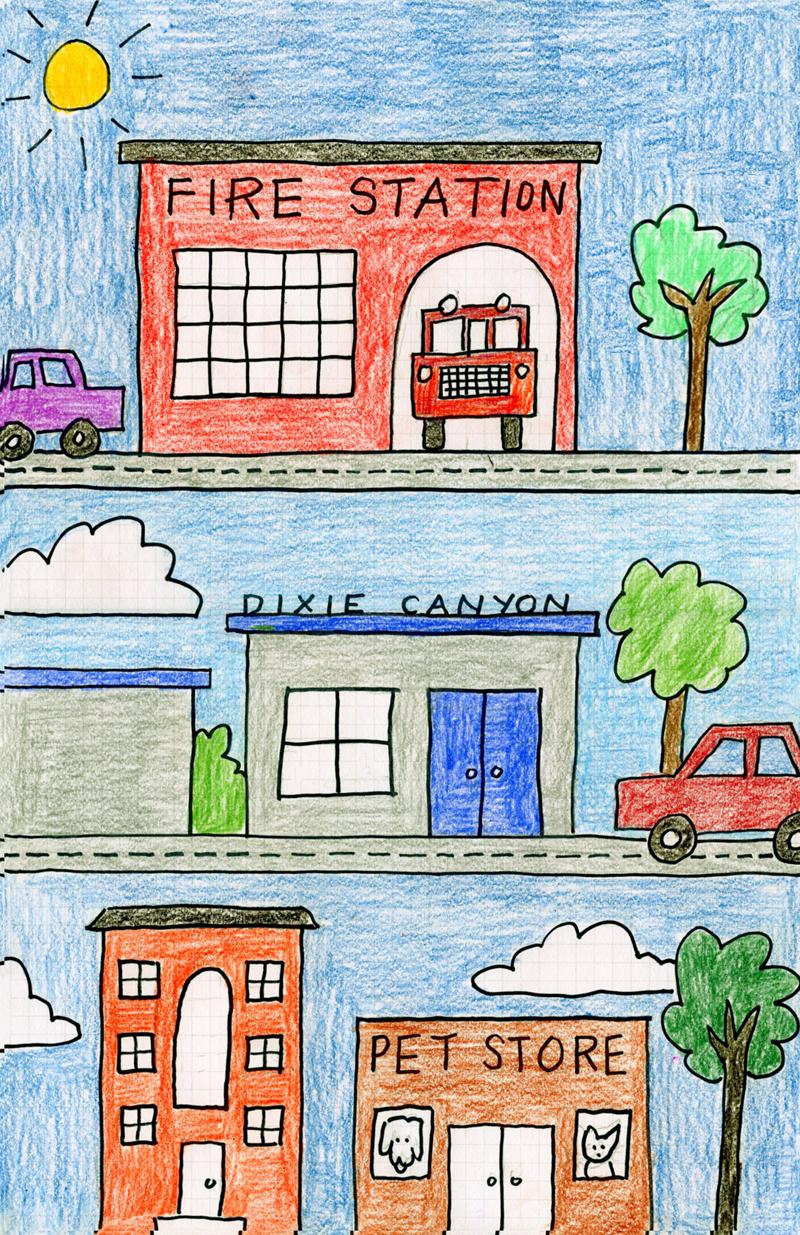 800x1235 My Neighborhood Drawing. Art Projects For Kids Kindergartenklub