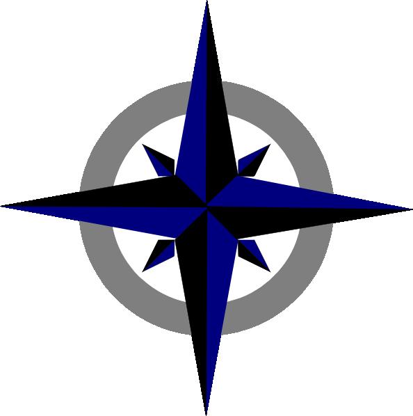 594x598 Bluegrey Compass Rose Clip Art