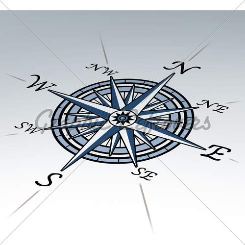 500x500 Compass Rose Clip Art Compass Rose In Perspective On White
