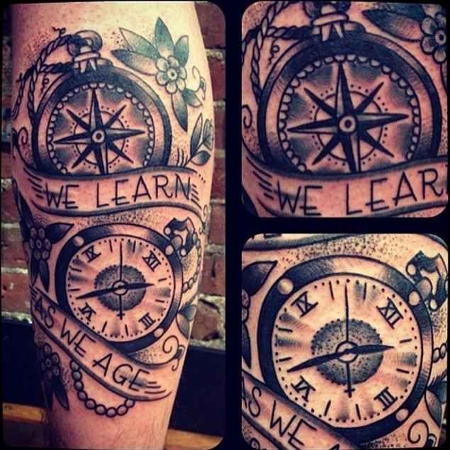 635x635 Saat Pusula Tatto Compass Tattoo, Compass