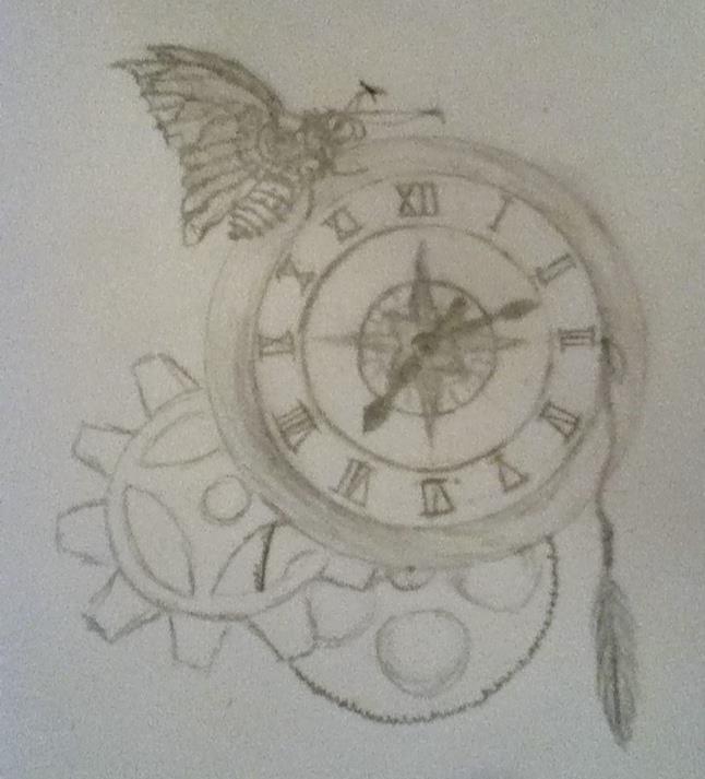 646x713 Steampunk Clockcompass Tattoo Idea By Broknbeauti