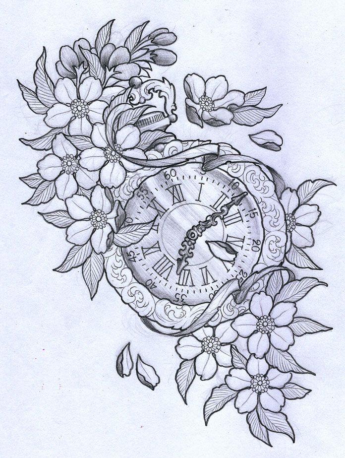 696x923 Vintage Clock Art