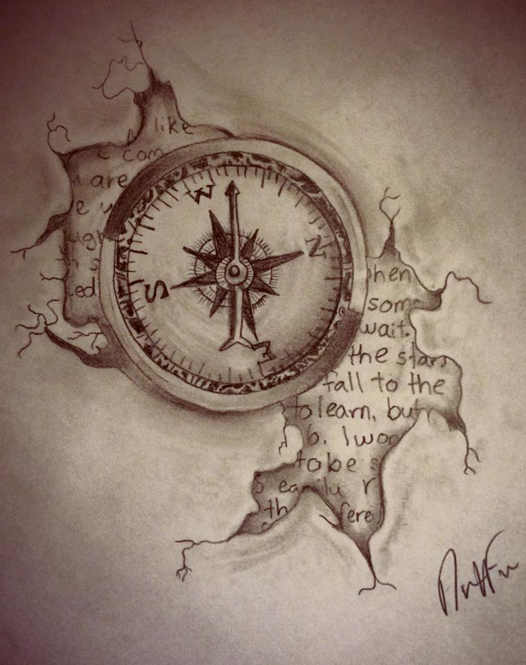759x960 Compass In Pencil By Nicnac1