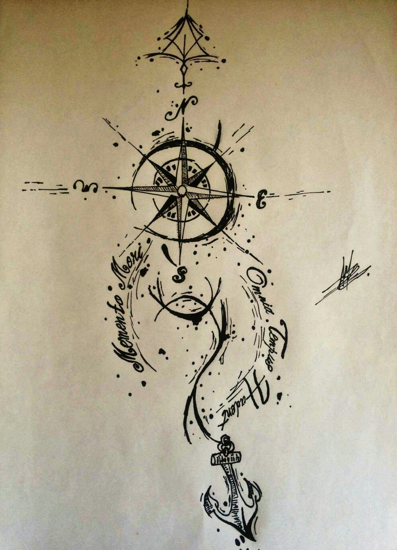 1385x1920 Compass Tattoo Drawing Tattoos Compass Tattoo