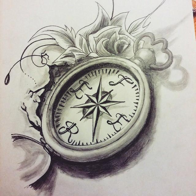 Compass Drawing At GetDrawings
