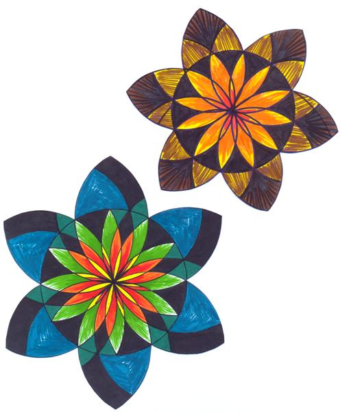 496x600 Compass Flowers
