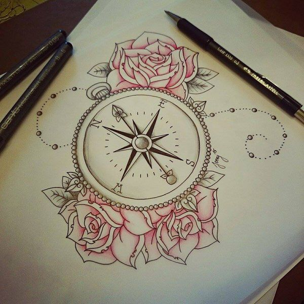 600x600 Compass Roses Tattoo Add Not All Those Who Wonder Are Lost