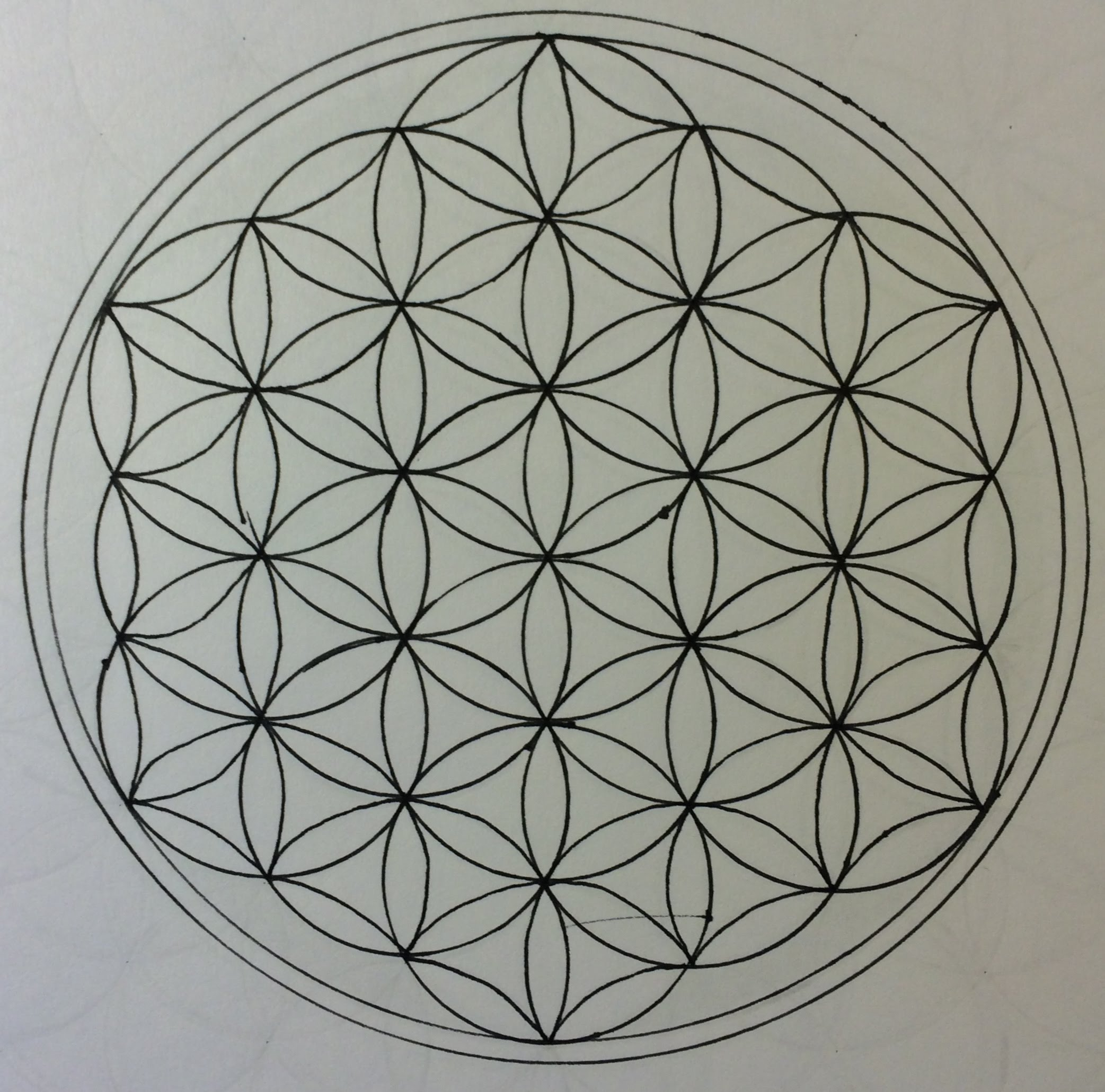 2085x2061 How To Draw The Flower Of Life