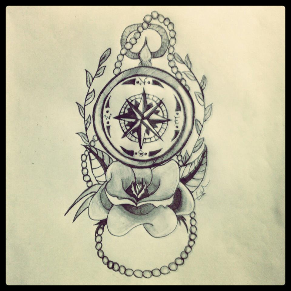 960x960 Broken Compass Tattoo