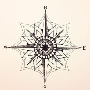 306x306 Mandala Compass