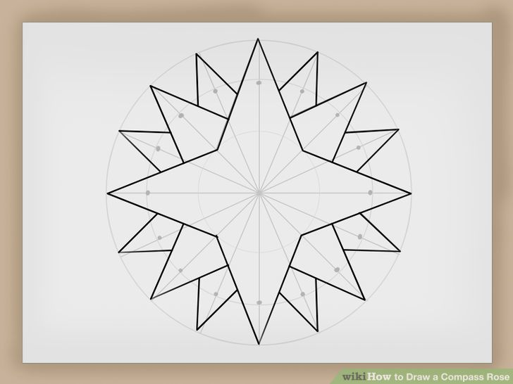 728x546 Draw A Compass Rose Compass Rose And Compass