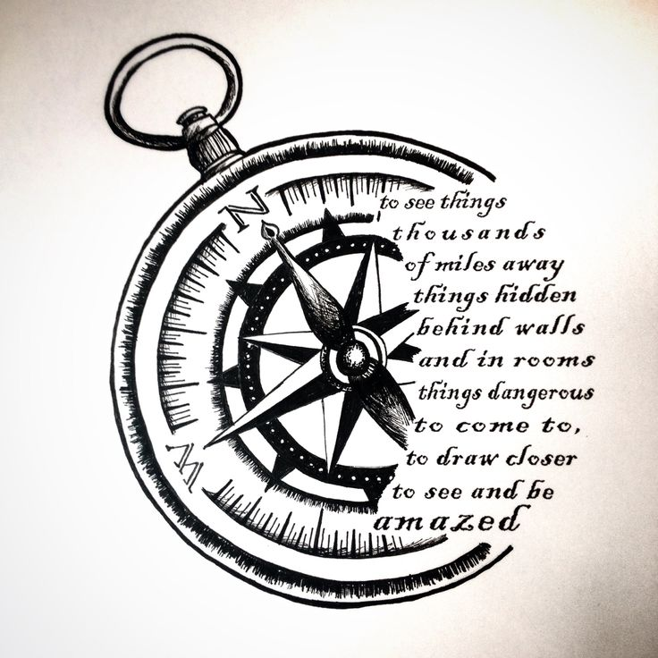 Compass Tattoo Drawing at GetDrawings.com | Free for personal use ...