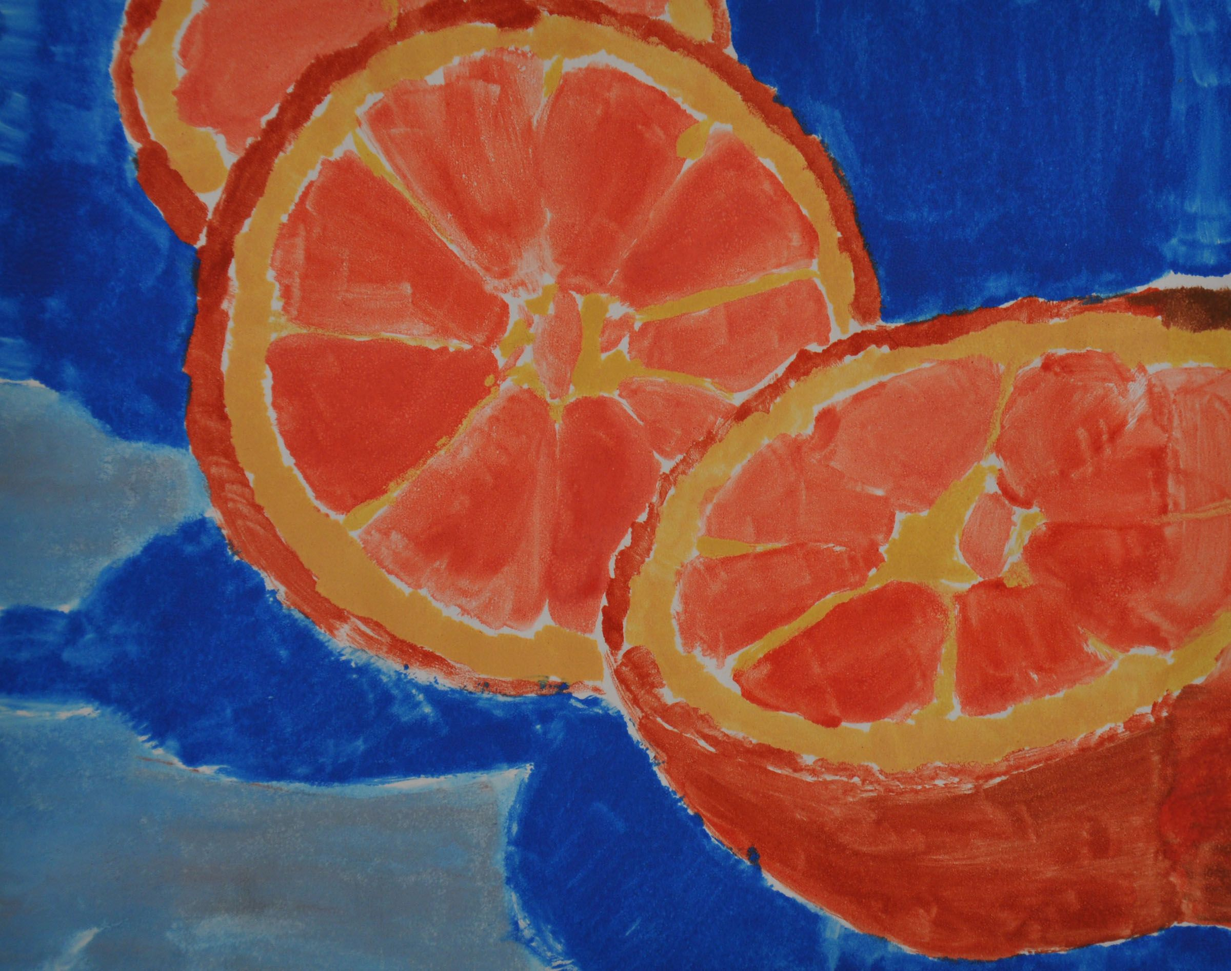2400x1894 Monochromatic Fruits Complementary Color And Value Painting