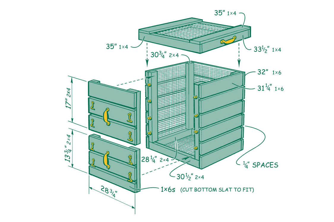 Compost Bin Drawing at GetDrawings.com | Free for personal use ...