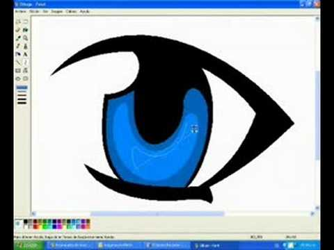 480x360 How To Draw Manga Eyes In Ms Paint And Blink Animation
