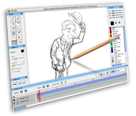 468x397 Pencil Is An Animationdrawing Software For Mac Os X, Windows,