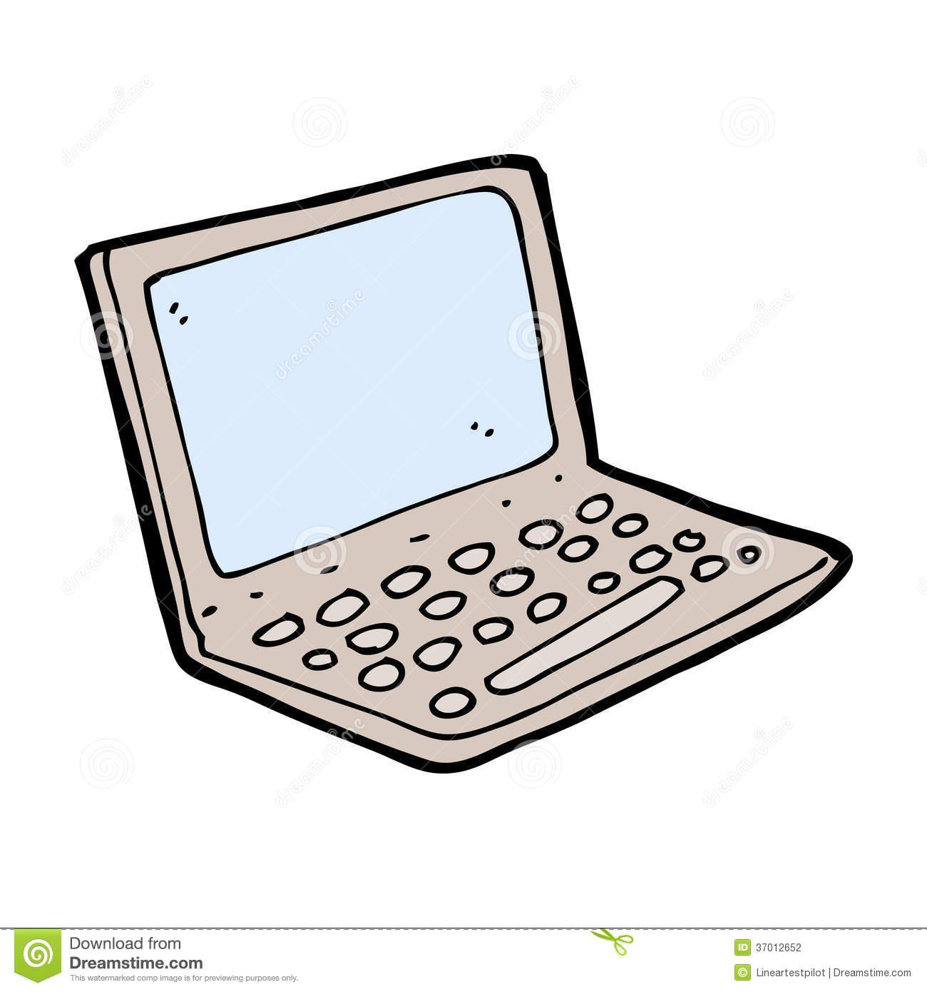 1300x1390 Computer Cartoon Drawing Cartoon Laptop Computer Stock Photography