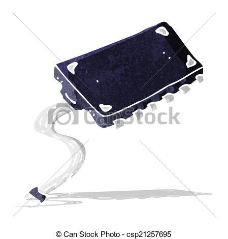 449x470 Cartoon Computer Chip Eps Vectors