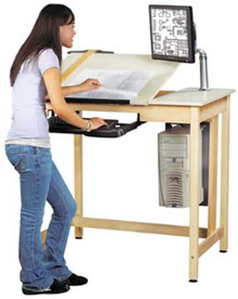 220x276 All Split Top School Cad Drawing Computer Table By Shain Options