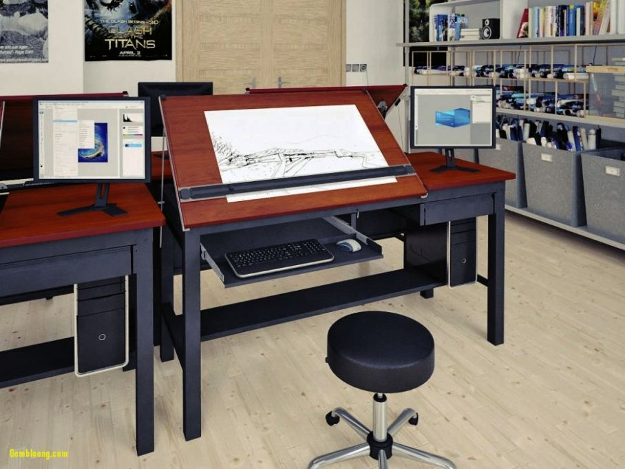 908x681 Drafting Computer Desk