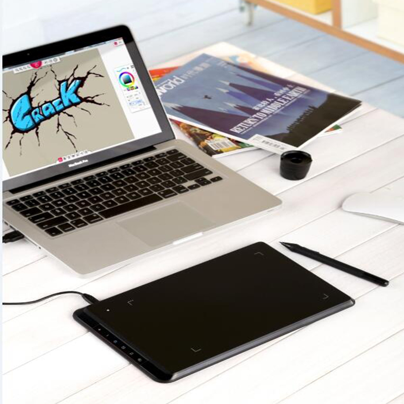 800x800 Ugee Ex07 Graphics Tablet Computer Drawing Board Hand Painted