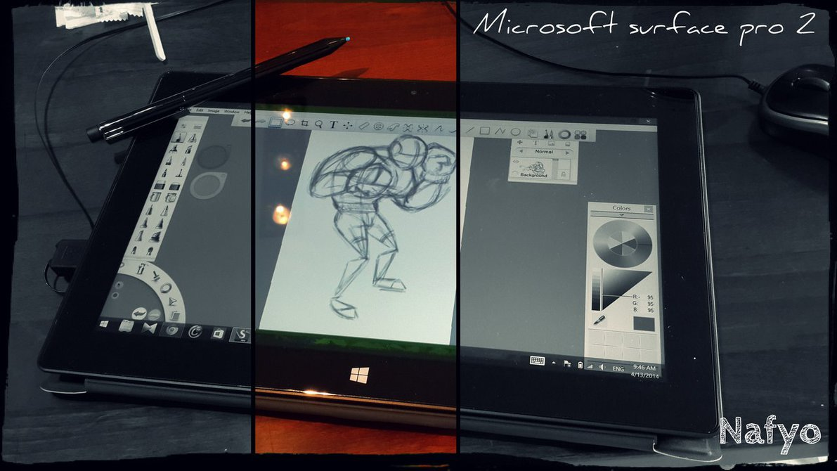 1191x670 My Current Drawing Tool Surface Pro 2 Pc Tablet By Nafyo Toons
