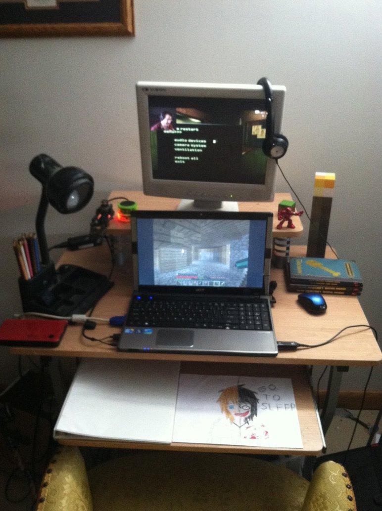 772x1034 My Computer Deskdrawing Desk By Creepypastize