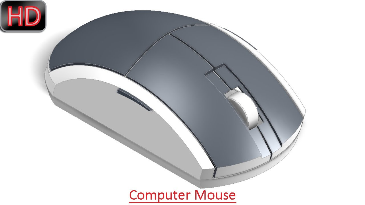 1280x720 Computer Mouse (Video Tutorial) Autodesk Inventor