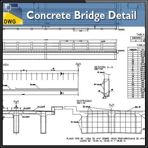 500x500 Concrete Bridge Detail Cad Design Free Cad Blocks,drawings,details