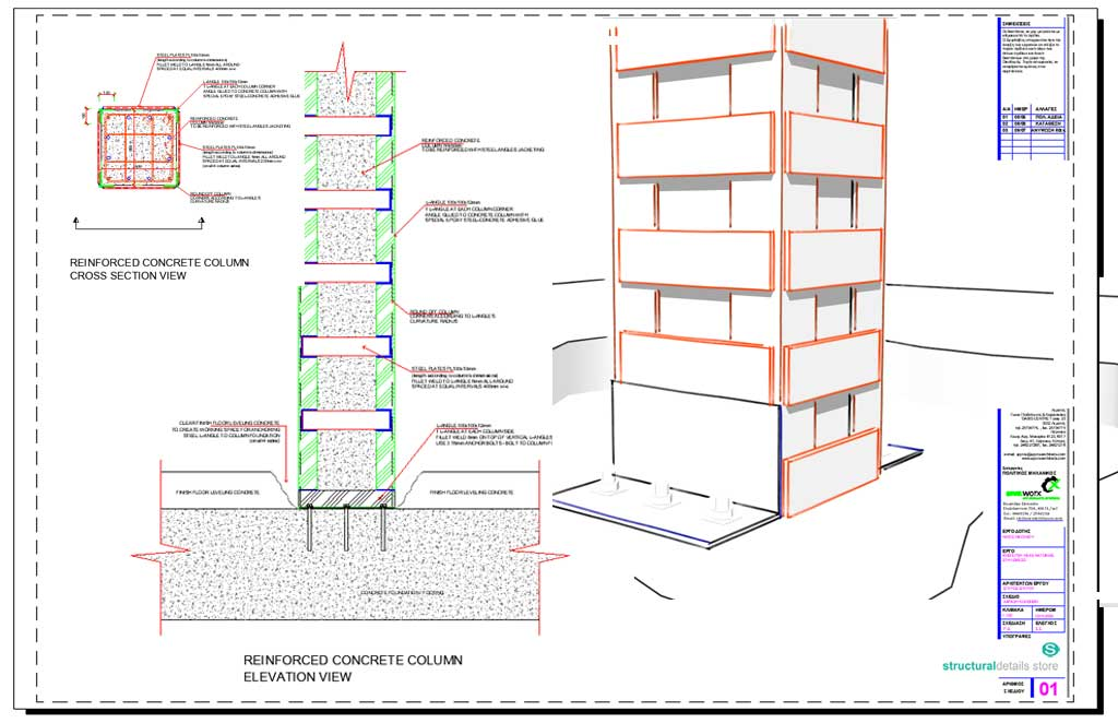 1024x662 Of Reinforced Concrete Column With Steel Jacketing