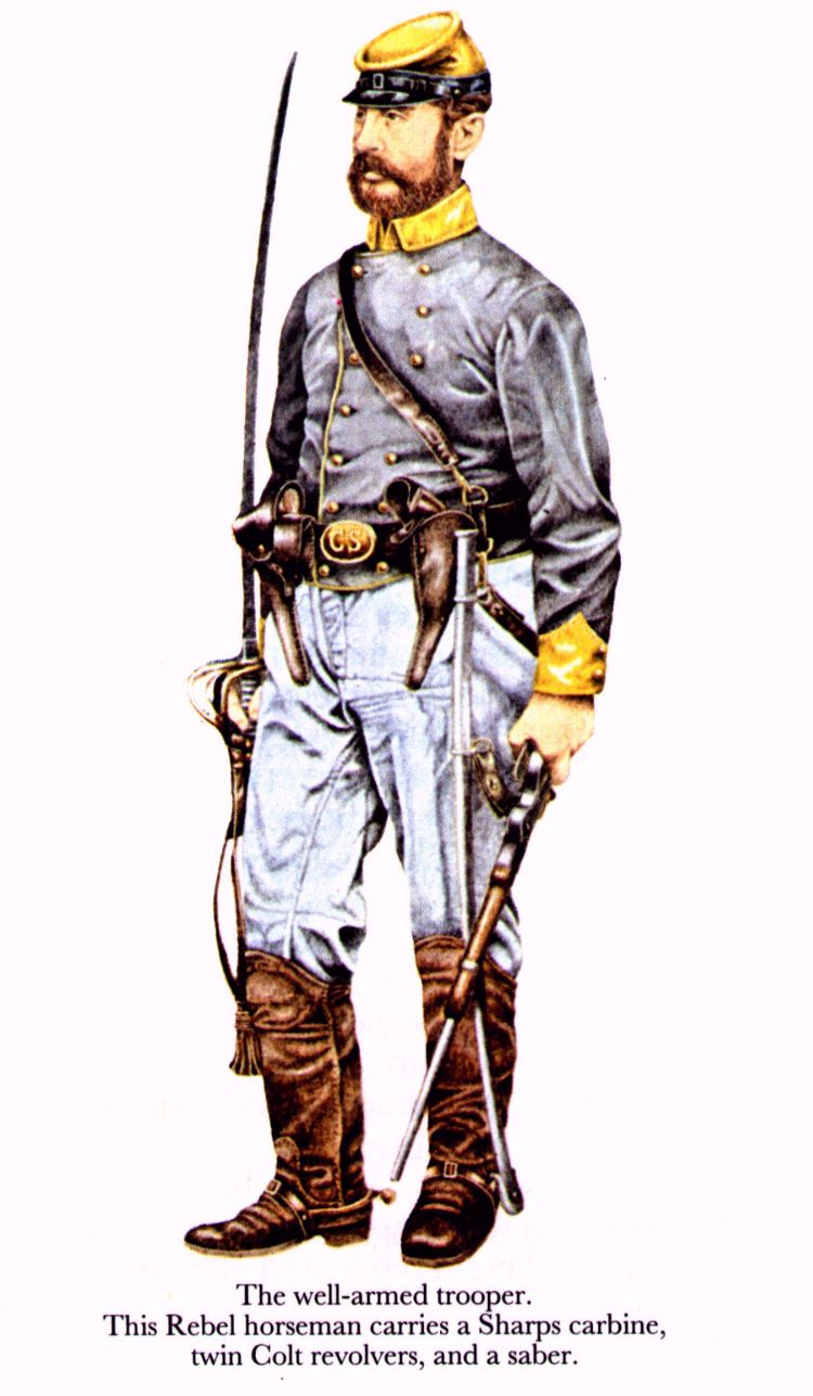 750x1287 Acw Confederate Confederate Soldier, (Artist Unknown). Help